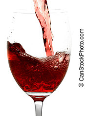 Red Wine - Red wine being poured into a wine glass