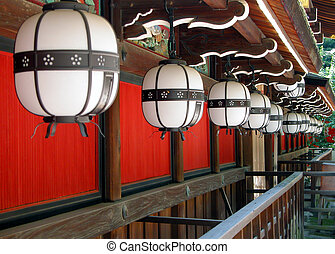 Temple lanterns - Interesting perspective with some Japanese...