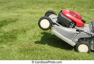 lawnmower - Picture of lawnmower as if it's accelerating...
