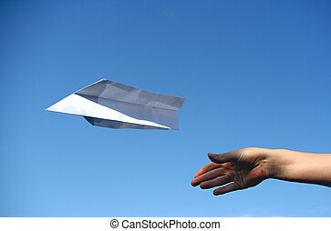 Paper plane - A paper plane that was just thrown in the air...