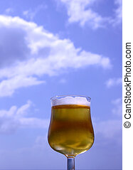 Beer in the Sky - Beer Glass Agaisnt the sky