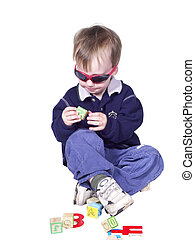 dude playing - isolated toddler playing