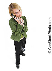 Business Lady #3 - Blonde Business woman on the phone