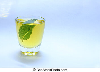 Yellow Shot with Green leaf