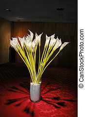 flowers in vase - beautiful flowers in vase at temple