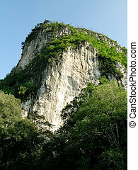 Mountain cave - Strange looking mountain with cave hidden...