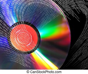 Binary series-1701 - Binary data coming out of a DVD ROM....