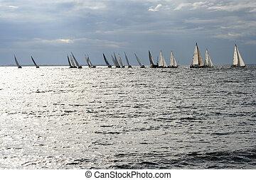 Sailboats at the Baltic Sea
