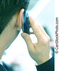 Business phone - Business man on the phone