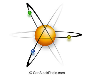 The Atom - Colorful Clipart of an Atom
