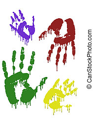 Hand Prints - Colorful Palms