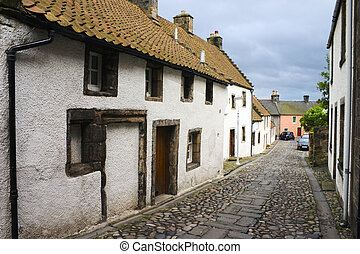 Culross 1 - Street in Culross, Fife, Scotland, UK