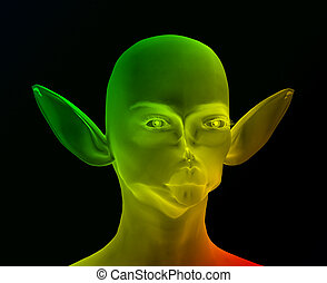 Alien 14 - This is an alien which I created using a 3D...