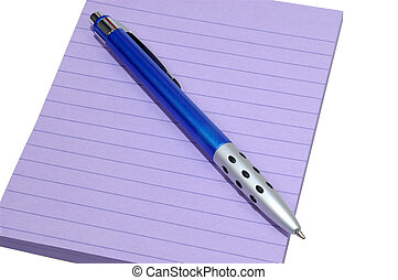 Pad and Pen - Purple Pad and Blue Pen