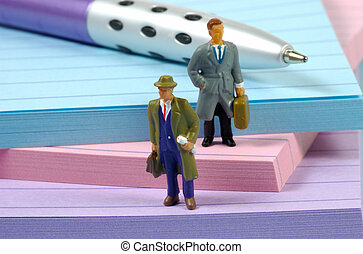 Miniature Businessmen - Miniature Business People Standing...