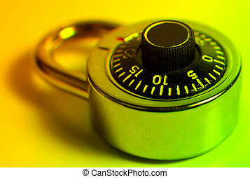 Combination Lock With Colored Filter