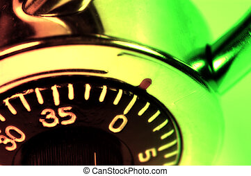 Combination Lock With Colored Filter and Blur