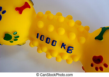 dogs toy - closeup of a dogs toy