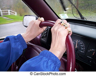 Driving car hands