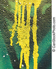 Abstract paint - Detail of dripping paint on a wall