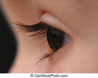 Baby eye - A close-up of a baby eye