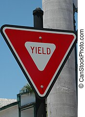Yield Sign - Photographed at a local street Florida