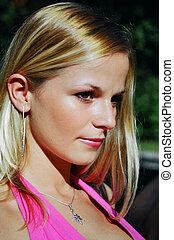 beautiful blond  - gorgeous blond woman