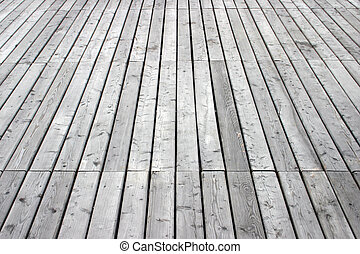 Deck - vertical - Wooden deck in perspective