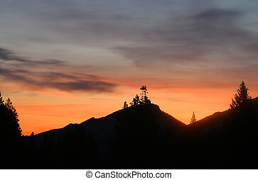 Mountain Dawn - Sunrise over mountain, Rocky Mountain...