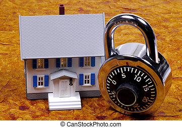 Home Security - Miniature House and a Combination Lock