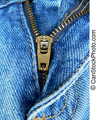 Zipper on a Pair of jenas