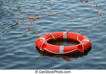 Life Buoy in water - Life buoy in water