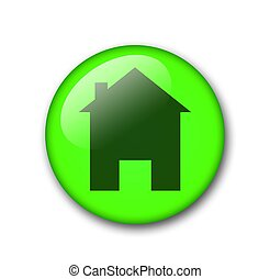 green home button - green web home button for internet use