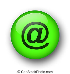 green web button - green web email button for internet use