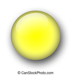 yellow orb - yellow sphere - web button