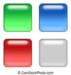 web buttons - four web buttons