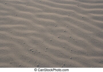 Beach Sand - Some winded sand on the beach. The ripples make...