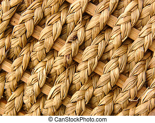 Basket weave - Detail of a woven basket