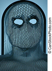 Mask 2 - radiotherapy immobilization mask, used in cancer...