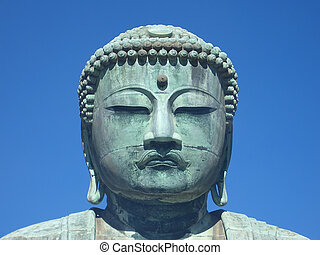 Kamakura Buddha - A huge bronze statue of the Buddha in...
