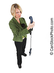 Business Lady #16 - Blond Business woman with telephone