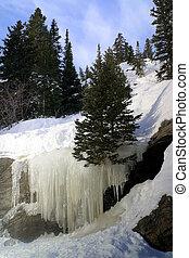 Bear Lake Ice Falls - Natural Ice falls from runoff at Bear...