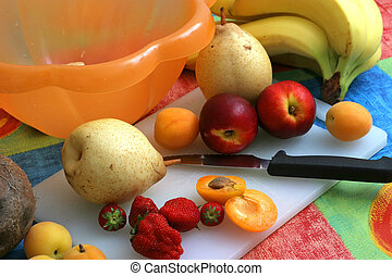 Preparing Salat II - Colorful fruit set