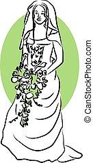 Bride - bride holding flowers