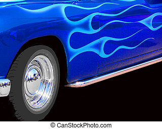 Blue Hot Rod - a vintage car