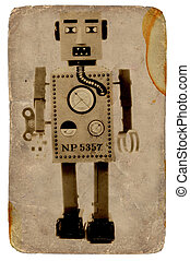 Vintage Robot Photo.  Part of Vintage Series