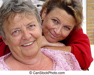mother and daughter - womens portrait