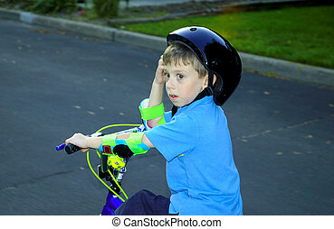 BIke Ride - Child Riding His Bike