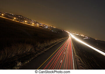 roads 9 - Light trails on highway