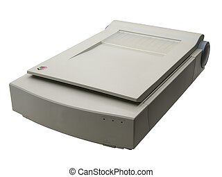 Scanner - flatbed scanner over white